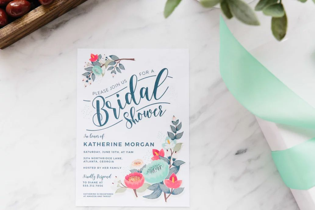 10 Ideas to Produce the Perfect Bridal Shower Invitation